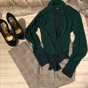 Bebe Emerald Green Body Suit
